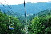Dağlar yaz aylarında kayak — Stok fotoğraf