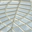 Transparent glass ceiling, modern architectural interior. — Stock Photo #55029211
