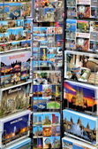 Postcards stand in Barcelona — Stock Photo