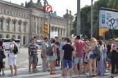 Barcelona landmark - La Rambla street — Stock Photo