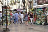 Barcelona landmark - La Rambla street — Stockfoto