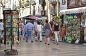 Barcelona landmark - La Rambla street — ストック写真