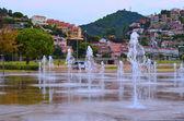 Splashing water of fountain — Stock Photo