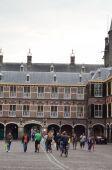 Gothic facade of Ridderzaal in Binnenhof, Hague, Netherlands — Stock Photo