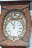 Old wooden clock macro shot — Stock Photo