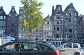 Streetview of Amsterdam centre — Stock Photo