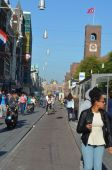 Tourists in downtown of Amsterdam, The Netherlands, — Stock Photo