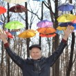 Man holding Bright umbrellas. Freedom concept — Stock Photo #58058743