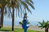 Pay binoculars at beach, travel concept. — Stock Photo