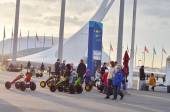 People walking in Olympic park in Sochi, Russia. — Stock Photo