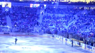East-West All star game KHL Sochi, Russia 2015 — Stock Video