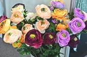 Artificial floral bouquet — Stock Photo