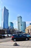 Warsaw, Poland. downtown business skyscrapers, city center — Stock Photo