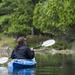 Woman Kayaking — Stock Photo #53707275