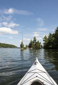 Kayak on Northern Lake — Stock Photo