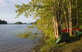 Canoes on the Shoreline — Stock Photo