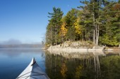 Northern Lake in October — Stockfoto