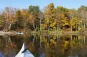 Kayaking in Autumn — Stock Photo