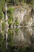 Rock Face Reflection — Stock Photo