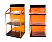 Orange shelves stainless — Foto Stock