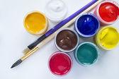 Peinture et pinceau — Photo