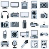 Nowoczesne urządzenia elektroniczne ikony — Wektor stockowy