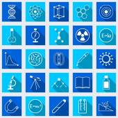 Science vector icons — Stock Vector