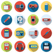 Modern electronic icons — Vector de stock