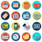 Shopping vector icons — Stock Vector