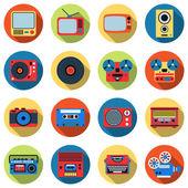 Retro electronic icons — Stock Vector