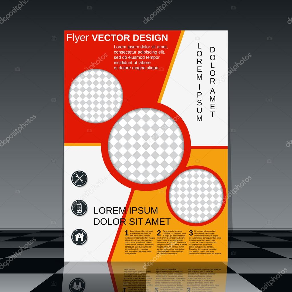 professional flyer design vector template stock vector © ulvur professional flyer template brochure mockup business report magazine cover placard corporate banner presentation poster vector design vector by