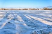 Fractured Ice on the River — Stock Photo