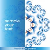 Blue abstract vector achtergrond — Stockvector