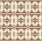 Oriental style seamless pattern vector one — ストックベクタ