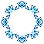 Artistic ottoman pattern series eighty eight — Vetor de Stock
