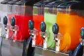 Crushed Fruit Ice Drink Dispensers — Foto Stock