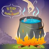 Halloween background melting pot, eps10 — Vecteur