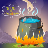 Halloween background melting pot, eps10 — Stock Vector