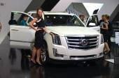 "MOSCOW - 29.08.2014 - Automobile Exhibition ""Moscow International Automobile Salon"" — Photo"