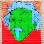 ������, ������: Portrait of Einstein on the wall