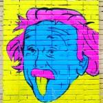 Постер, плакат: Portrait of Einstein on the wall