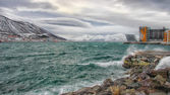 Тромсё гавань и арктические моря — Стоковое фото