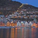 Bergen at night — Stock Photo #72828183