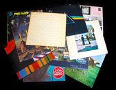 Old vinyl LP records — Stock Photo