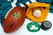 American sports equipment — Stock Photo