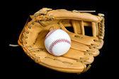 Baseball glove and ball — Stock Photo