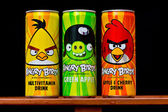 Angry birds drinks — Stock Photo