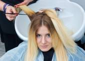 Coloring hair preparation — Stock Photo