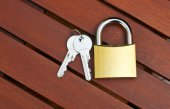Padlock with keys — Stock Photo