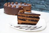 Homemade chocolate cake — Stock Photo